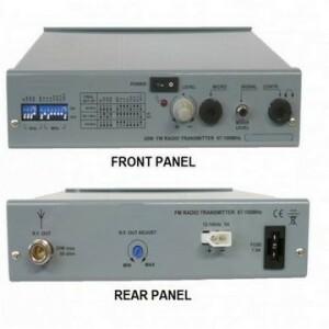 Emetteur FM Portable pour radio temporaire, radio de brousse, radio village