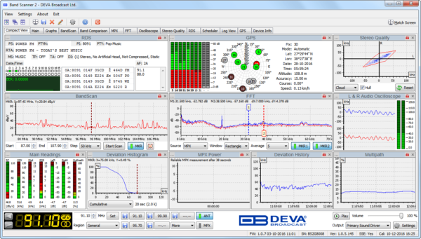 Band scanner 2 DEVA Analyseur et monitoring FM