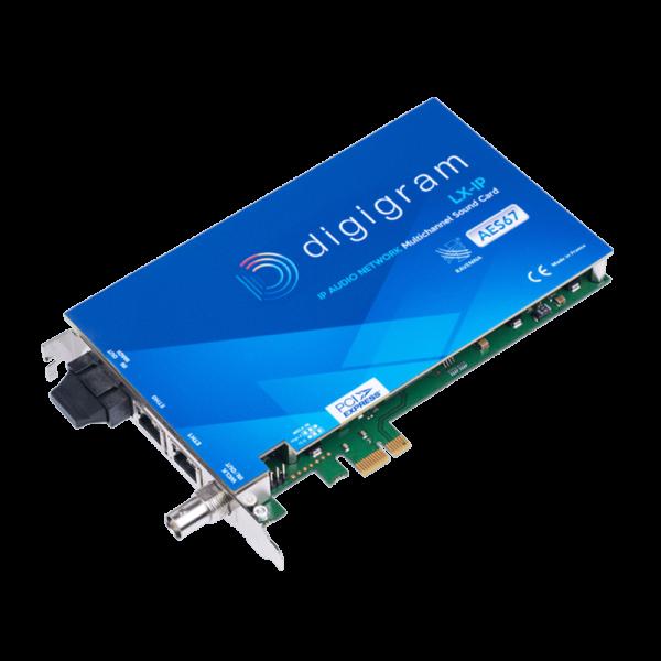 LX-IP Digigram Carte son multicanal AoIP AES67 Ravenna