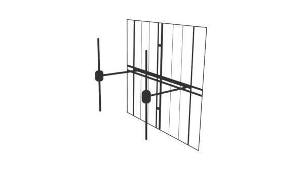 Antenne FM Large-bande à double dipôle H/V